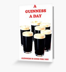 a pint a day Greeting Card