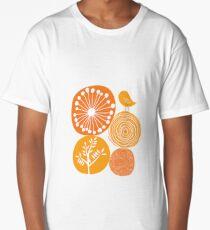 Abstract Nature Orange Long T-Shirt
