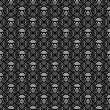 Sharp Savage Skull Pattern by MookHustle