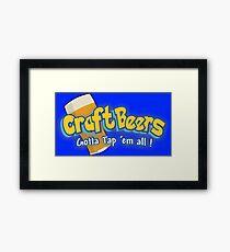 Pokemon meets craft beers Framed Print