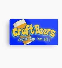 Pokemon meets craft beers Metal Print