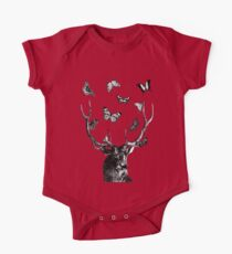 The Stag and Butterflies | Black and White Kids Clothes