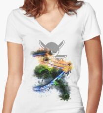 Zoro 2 - One Piece Women's Fitted V-Neck T-Shirt