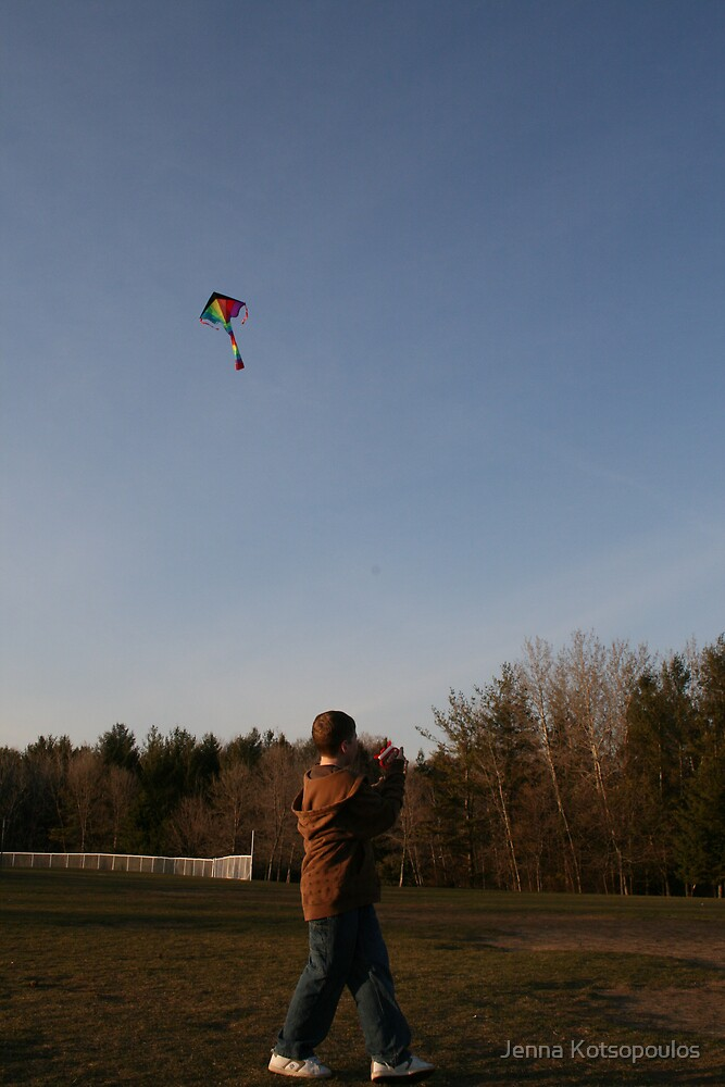 kite flying by Jenna Kotsopoulos