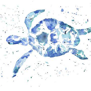 Sea Turtle Splatter Paint by khelland