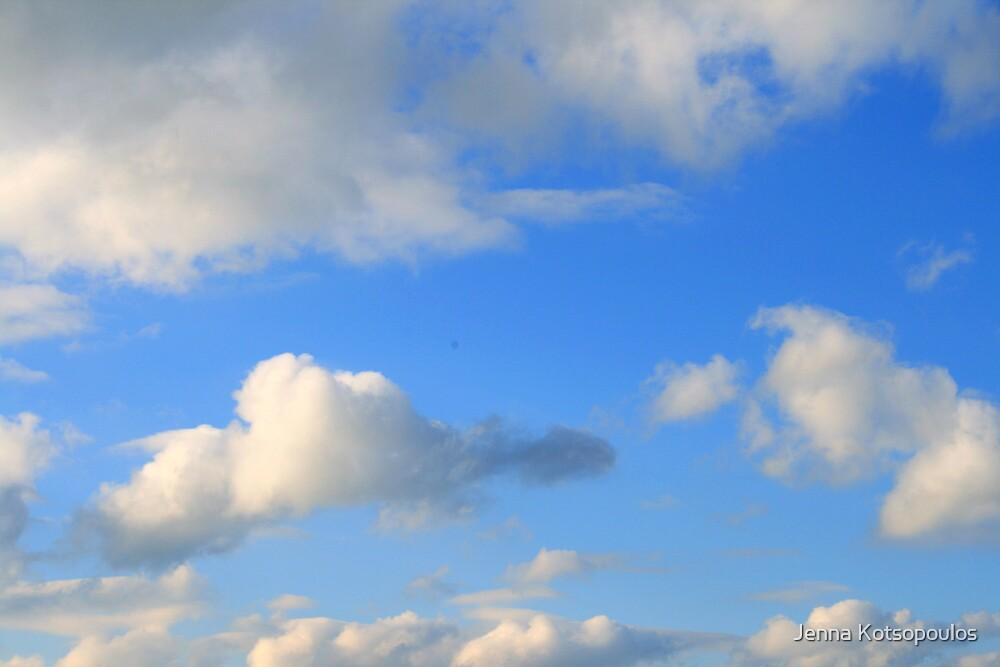 blue sky white clouds by Jenna Kotsopoulos