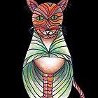 Fancy Cat with Green Cloak by CarolineLembke