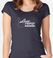 Love Local Idaho Women's Fitted Scoop T-Shirt