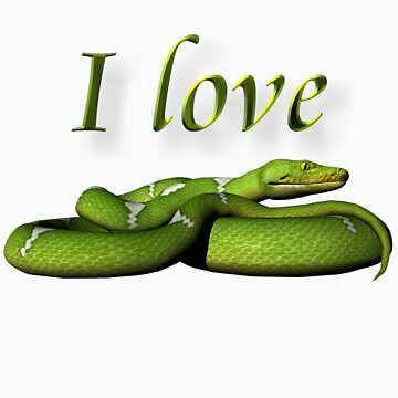I Love Snakes by ArtisticByNature
