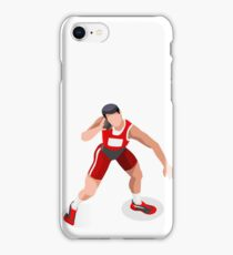 Shot Put Thrower Athlete Athletics Sport iPhone Case/Skin