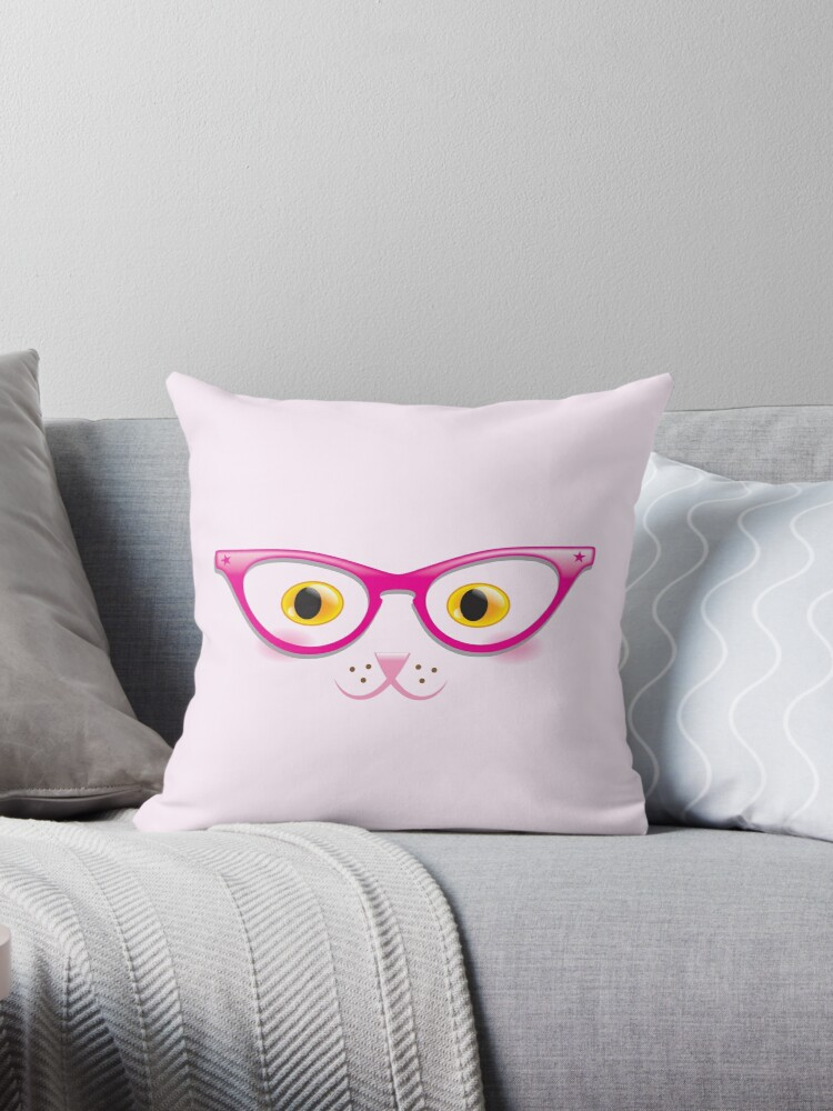 Really cute kitty cat with hipster glasses  by jazzydevil