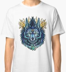 Mythical Kitsune in Blue Classic T-Shirt