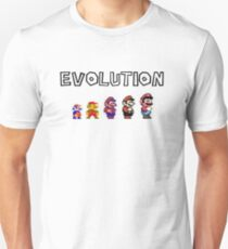 Evolution of Mario T-Shirt