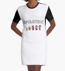 Evolution of Mario Graphic T-Shirt Dress