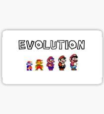 Evolution of Mario Sticker