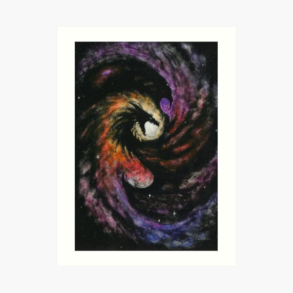 Dragon Galaxy Art Print