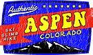ASPEN COLORADO VINTAGE Ski Skiing Mountain Mountains Skiing Skis Silhouette Snowboard by MyHandmadeSigns