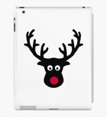 Reindeer face red nose iPad Case/Skin