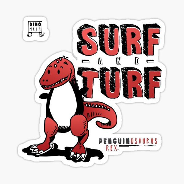 Surf and Turf Sticker