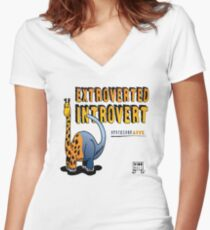 Extroverted Introvert Women's Fitted V-Neck T-Shirt