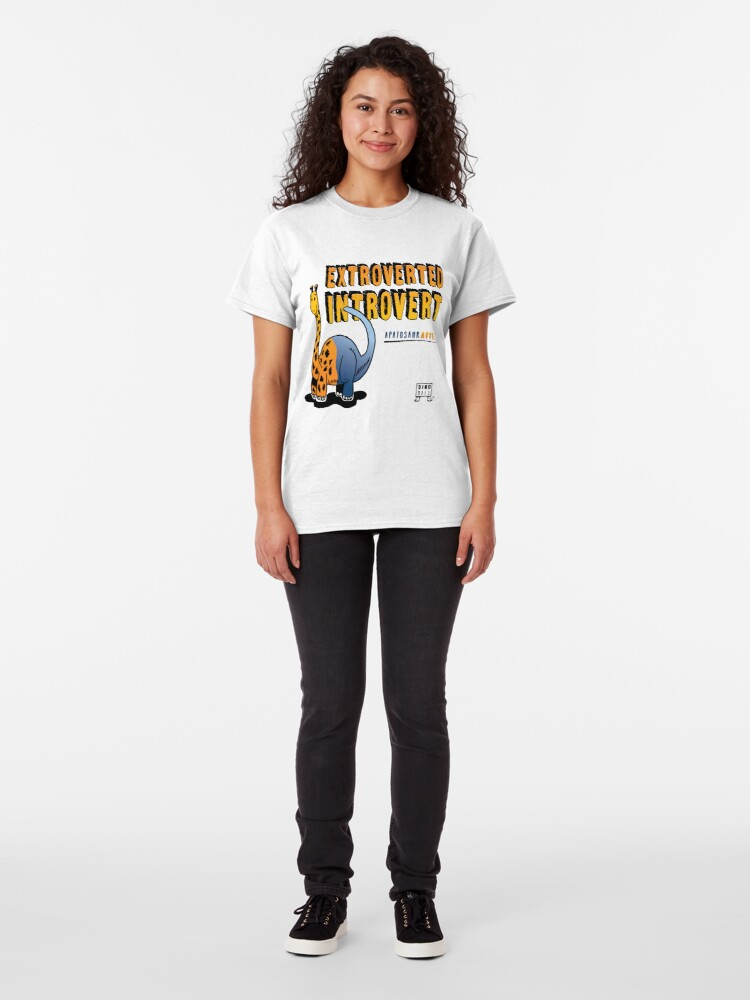 Alternate view of Extroverted Introvert Classic T-Shirt