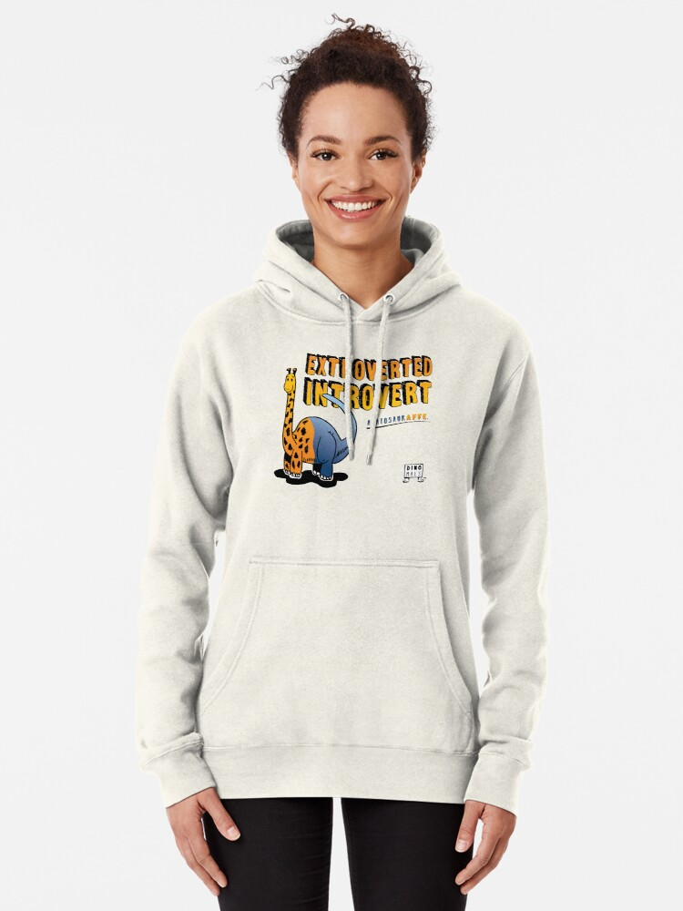 Alternate view of Extroverted Introvert Pullover Hoodie