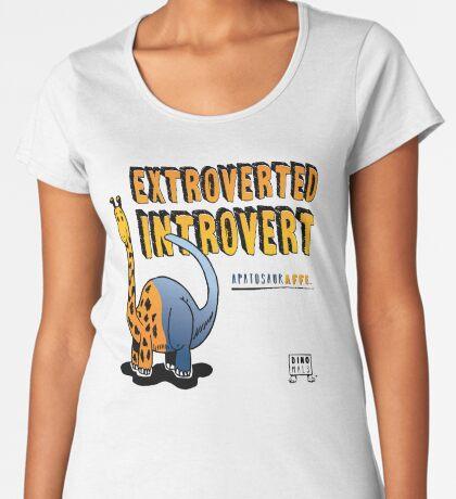 Extroverted Introvert Premium Scoop T-Shirt