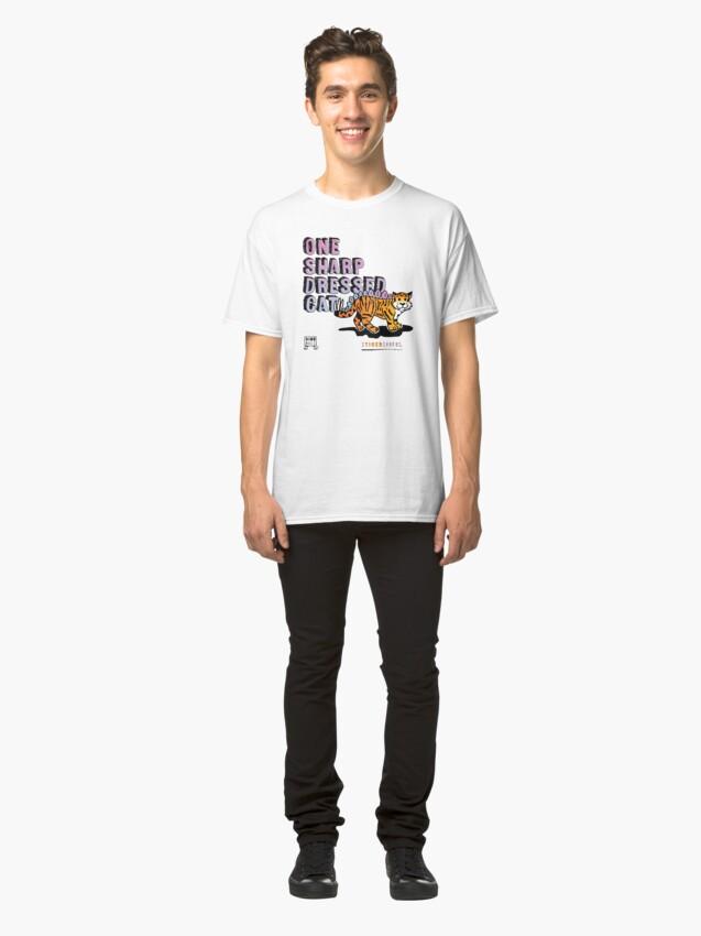 Alternate view of One Sharp Dressed Cat Classic T-Shirt