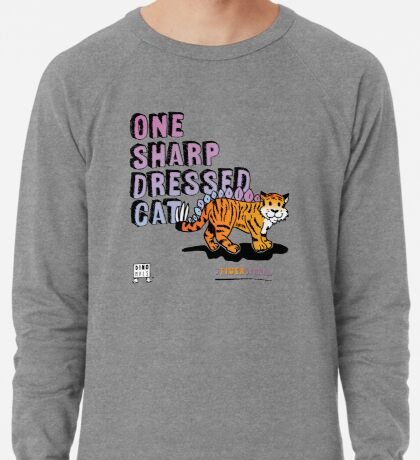 One Sharp Dressed Cat Lightweight Sweatshirt