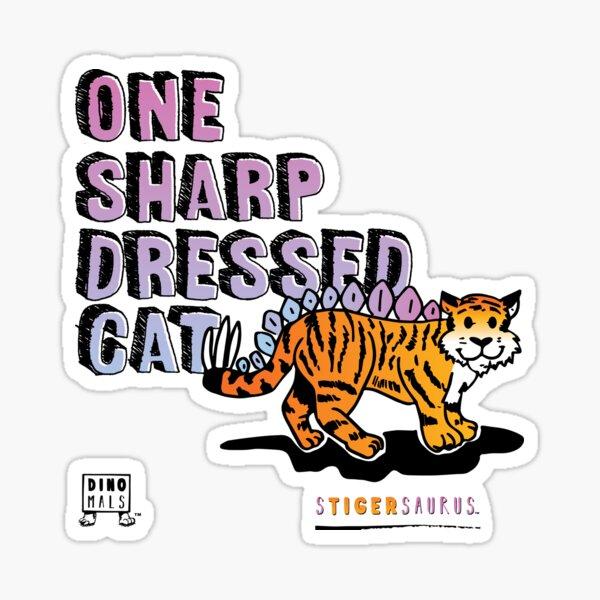 One Sharp Dressed Cat Sticker