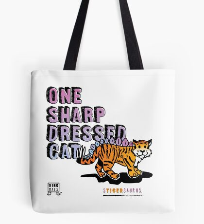 One Sharp Dressed Cat Tote Bag