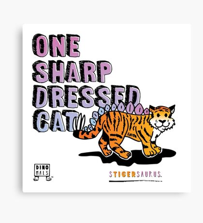 One Sharp Dressed Cat Canvas Print