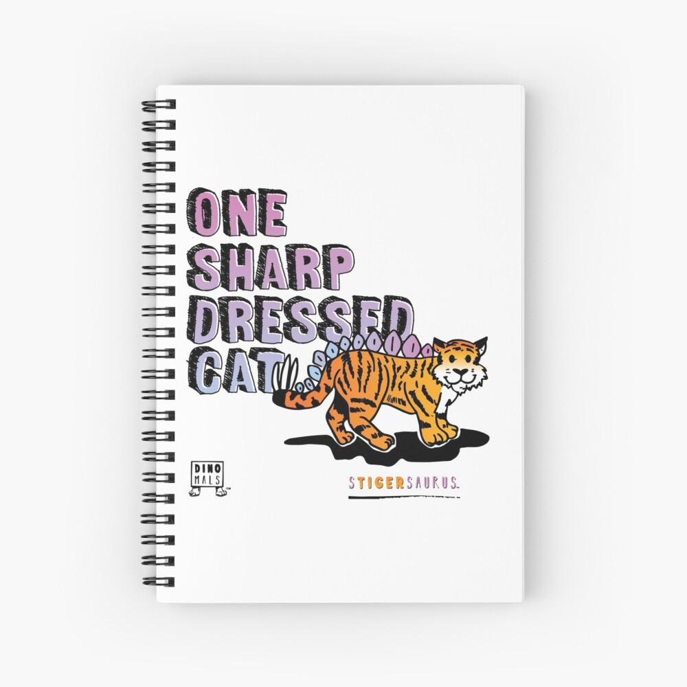 One Sharp Dressed Cat Spiral Notebook