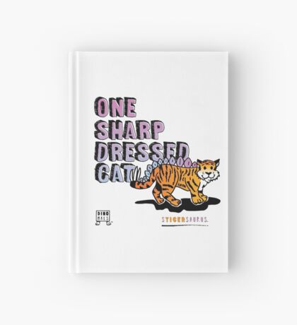 One Sharp Dressed Cat Hardcover Journal