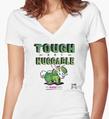 Tough but Huggable Fitted V-Neck T-Shirt