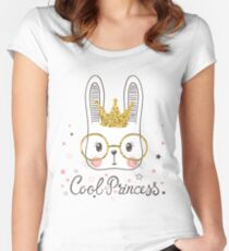 Cute rabbit Women's Fitted Scoop T-Shirt