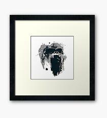 King Kong Ink Blot on Denham's Map Framed Print