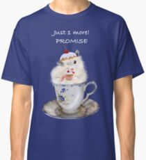 Funny Cute Hamster Eating Cupcake In A Tea Cup Classic T-Shirt