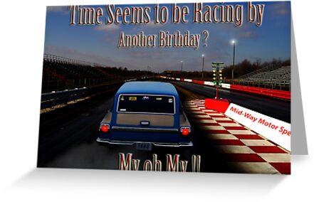 Drag Racing Birthday Card Greeting Cards By Kelleybear Redbubble