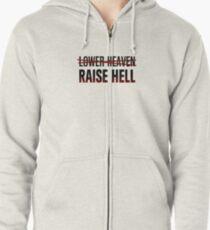 Lower Heaven Raise Hell Zipped Hoodie
