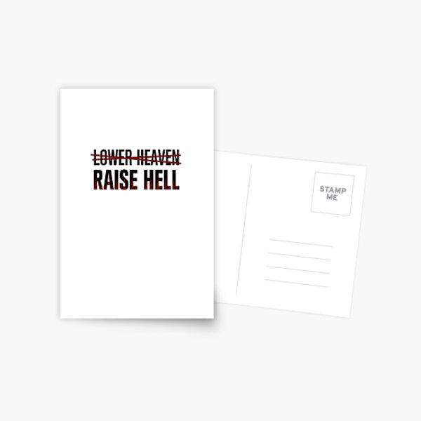 Lower Heaven Raise Hell Postcard