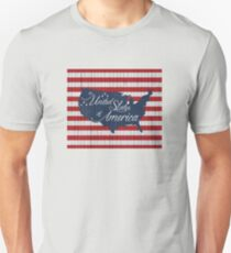 Stars and Stripes US map on wood Unisex T-Shirt
