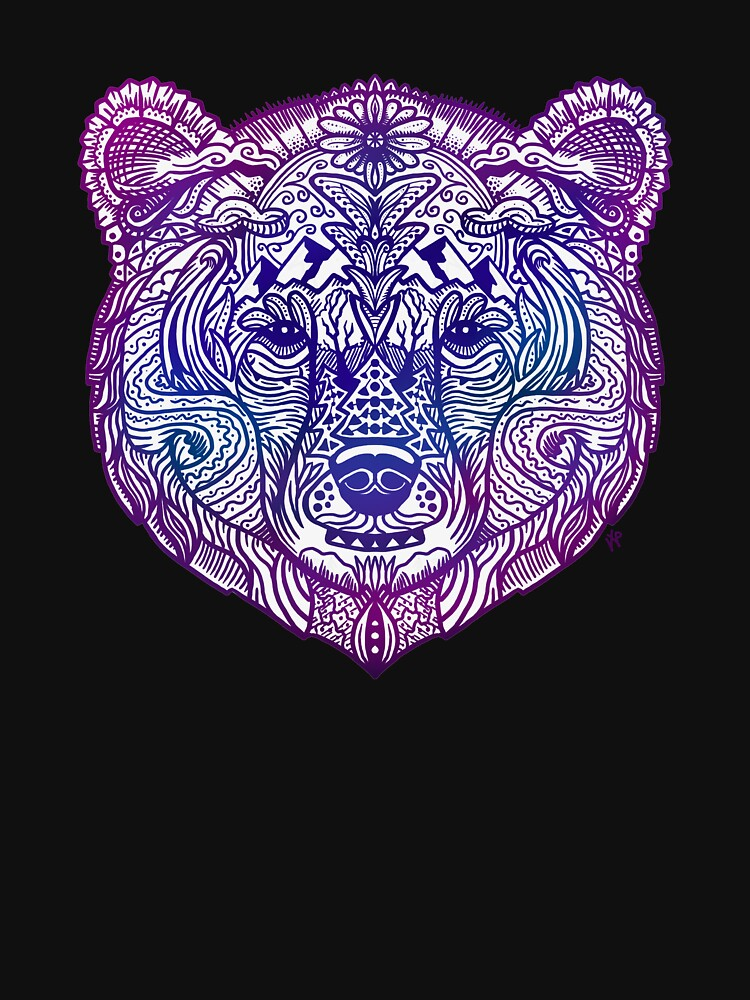 Grizzly Bear Story Art Paisley by DOODL