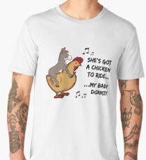 She's got a chicken to ride Men's Premium T-Shirt