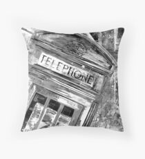 LONDON CALLING by Nibs Gallery B&W Throw Pillow