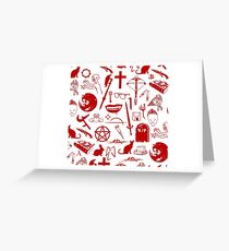 Buffy Symbology - Red Greeting Card