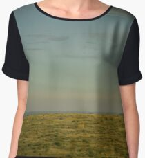 Pasture with Toy Camera Effect  Chiffon Top