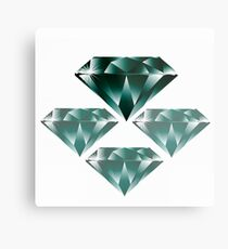 Diamonds are forever 4. Metal Print