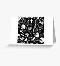 Buffy Symbology - White Greeting Card