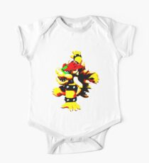 Flaming Bowser One Piece - Short Sleeve